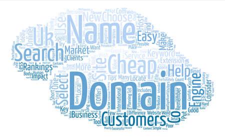domains: Cheap Domains Word Cloud Concept Text Background Illustration
