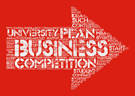 Business Plan Competitions text background word cloud concept Illustration