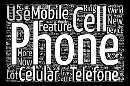 tremendous: Cell Phone In Every Pocket Word Cloud Concept Text Background