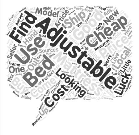 adjustable: Can You Buy Good Cheap Adjustable Beds Why Not Word Cloud Concept Text Background