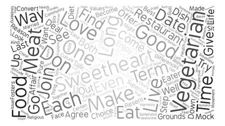 But What if Your Sweetheart Loves Meat Word Cloud Concept Text Background