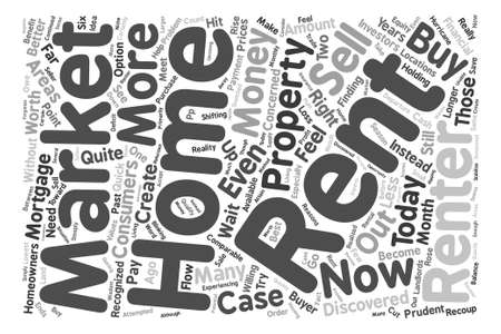 financially: Consumers Benefit from a Renters Market text background word cloud concept