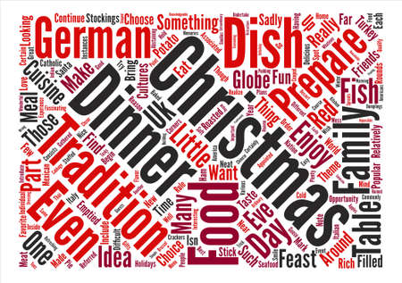 Christmas Dinner Ideas Word Cloud Concept Text Background