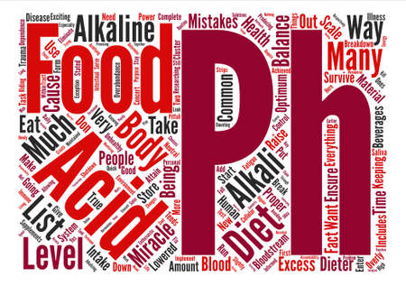 raising cans: Common mistakes on the pH miracle diet Word Cloud Concept Text Background Illustration