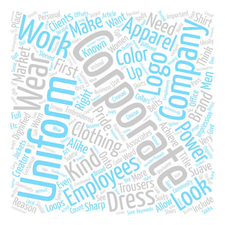 Corporate Apparel Word Cloud Concept Text Background