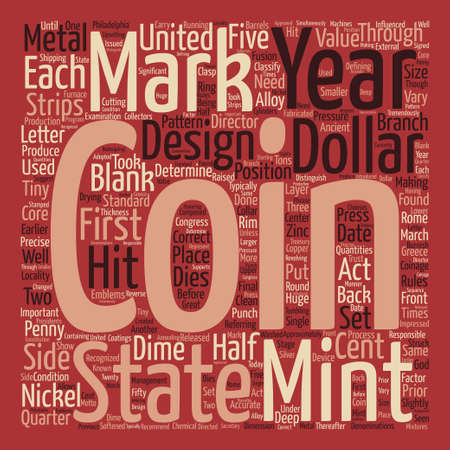 minted: BWCC what are remints and mint marks Word Cloud Concept Text Background Illustration