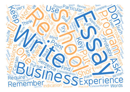 business school essays text background word cloud concept 向量圖像