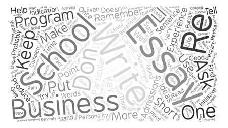 essays: business school essays Word Cloud Concept Text Background