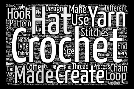 crochet hat Word Cloud Concept Text Background