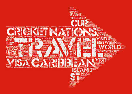 Caribbean Countries Unite To Make Travel Easier text background word cloud concept