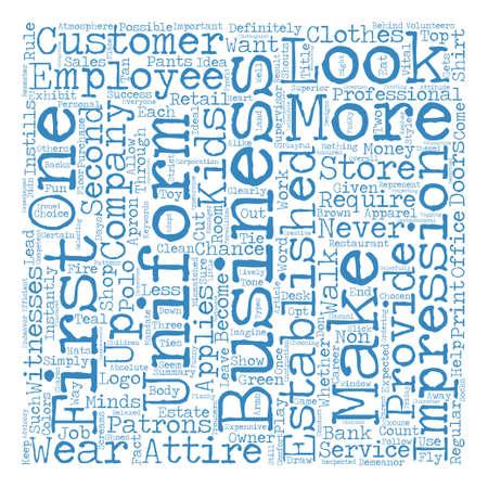 Business Uniforms Success Is In The Look Word Cloud Concept Text Background Ilustração