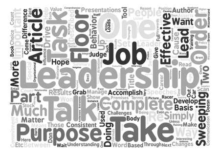 asserts: Can Leadership help Your Career Word Cloud Concept Text Background Illustration