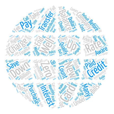 Credit Card Balance Transfers Know How To Save Money Word Cloud Concept Text Background Illustration