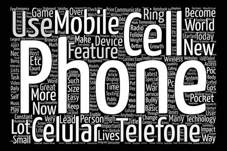 tremendous: Cell Phone In Every Pocket text background word cloud concept