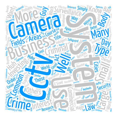 Cctv Camera System Captures You Whether You Like It Or Not Word Cloud Concept Text Background