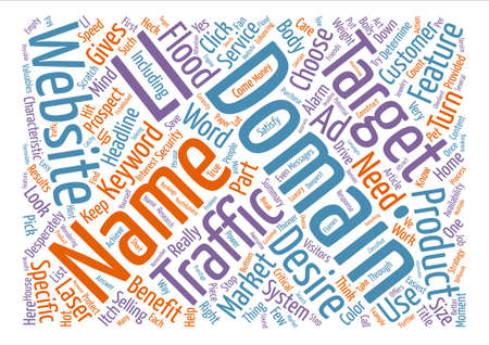 domains: Choose A Domain Name That Floods Traffic To Your Website text background word cloud concept