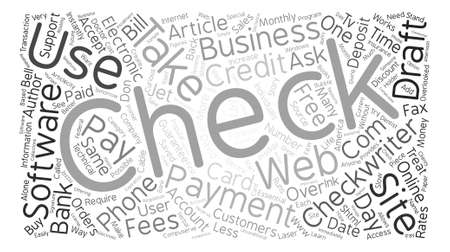 Can Your Customers Pay By Electronic Check text background word cloud concept Illusztráció