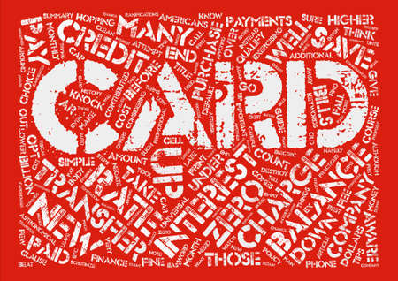 transfers: Credit Card Balance Transfers Know How To Save Money text background word cloud concept