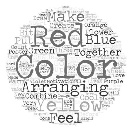 Color Determines The Tone Of Your Flowers Arrangements Word Cloud Concept Text Background