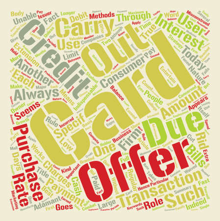 Credit Card Offers Get The Best Out Of It text background word cloud concept