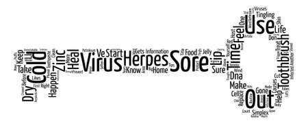 chapped: Cold Sores text background word cloud concept Illustration