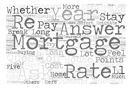 refinancing: Cheap Mortgage Rate Word Cloud Concept Text Background