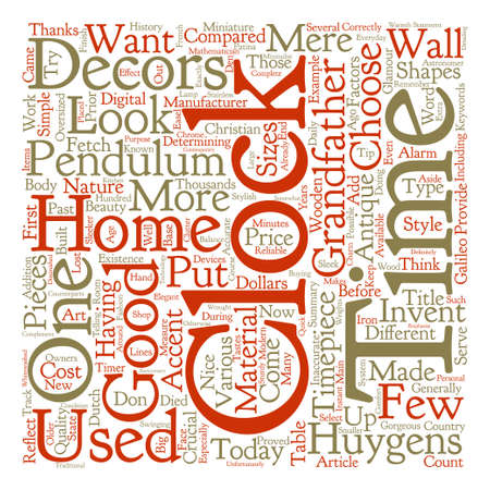mere: Clocks As Home Decors Word Cloud Concept Text Background