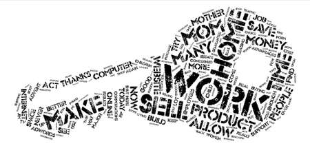 Can Moms Work From Home text background word cloud concept Illustration