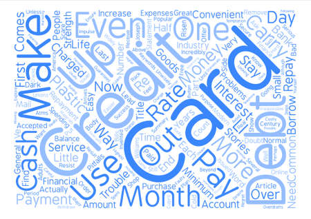 Common Pitfalls of Credit Card Use text background word cloud concept