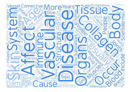 resulted: collagen vascular disease text background word cloud concept