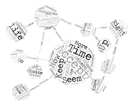 Challenges And The Power Of Acceptance text background word cloud concept