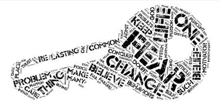 Conquer Your Fear text background word cloud concept