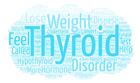 maybe: Can t Lose Weight Maybe You Have A Thyroid Disorder text background word cloud concept