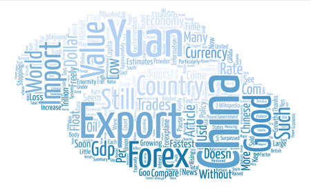 Chinese Yuan The Powder Keg Currency Word Cloud Concept Text Background Ilustração