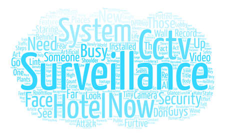 Cctv Surveillance Systems Those New Security Guys text background word cloud concept