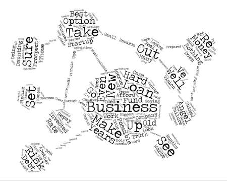 Business Angels For Your Startup Business Word Cloud Concept Text Background