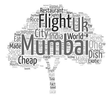 City For The Hungry Mumbai text background word cloud concept