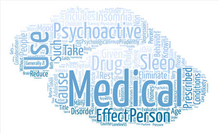 considerations: Considerations for Psychoactive Medications text background word cloud concept Illustration