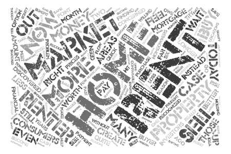 financially: Consumers Benefit from a Renters Market Word Cloud Concept Text Background Illustration