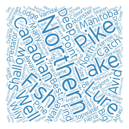 Catch Those Monster Northern Canadian Pike text background word cloud concept