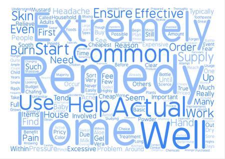 Cheapest Home Remedies text background word cloud concept Ilustração