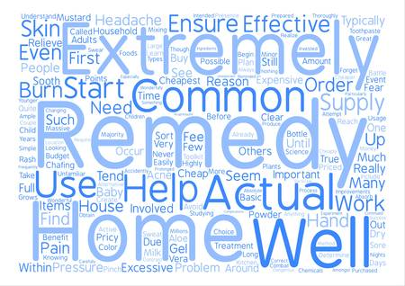 Cheapest Home Remedies text background word cloud concept Illustration