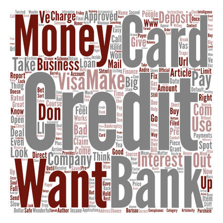 Credit Card Traps How To Spot Them On The Spot text background word cloud concept Illustration
