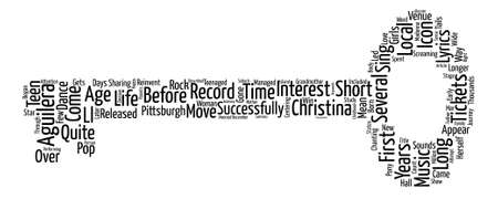 Christina Aguilera Tickets The Teen Icon Comes Of Age Word Cloud Concept Text Background