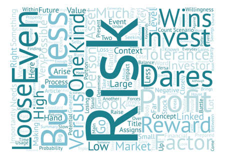 Business Risk He Who Dares Wins Word Cloud Concept Text Background