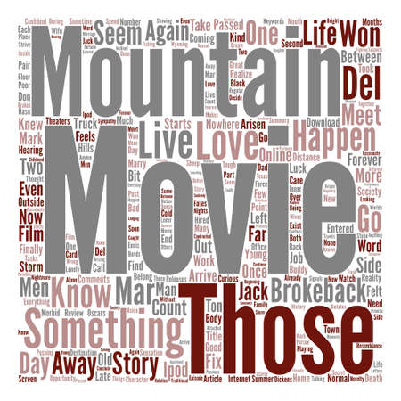 Brokeback Mountain Movie When Love Won t Count text background word cloud concept Illustration
