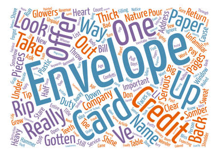 Credit Card Offers Word Cloud Concept Text Background