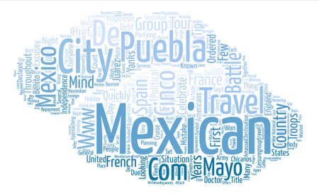 Cinco de Mayo Word Cloud Concept Text Background