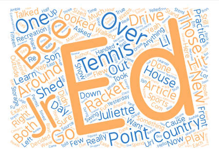 Country Tennis Anyone text background word cloud concept Illustration