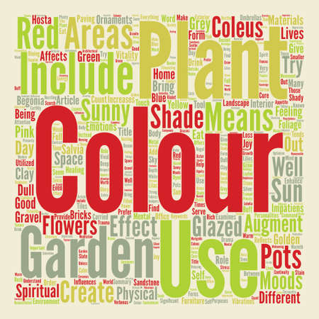 moods: Colour in the Garden text background word cloud concept Illustration